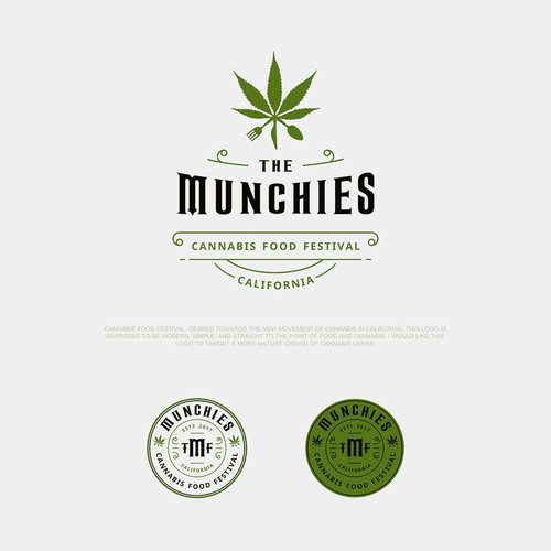 Hip logo for cannabis food festival in California