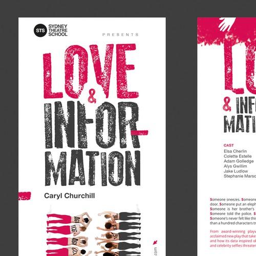 Flyer design for theatre
