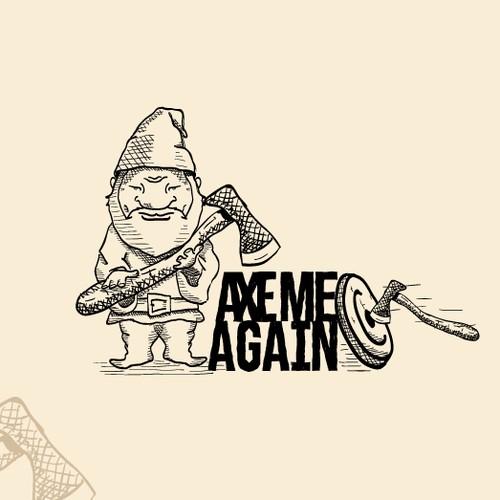 Classic, Vintage, Fun Logo Concept for an Axe Throwing Range