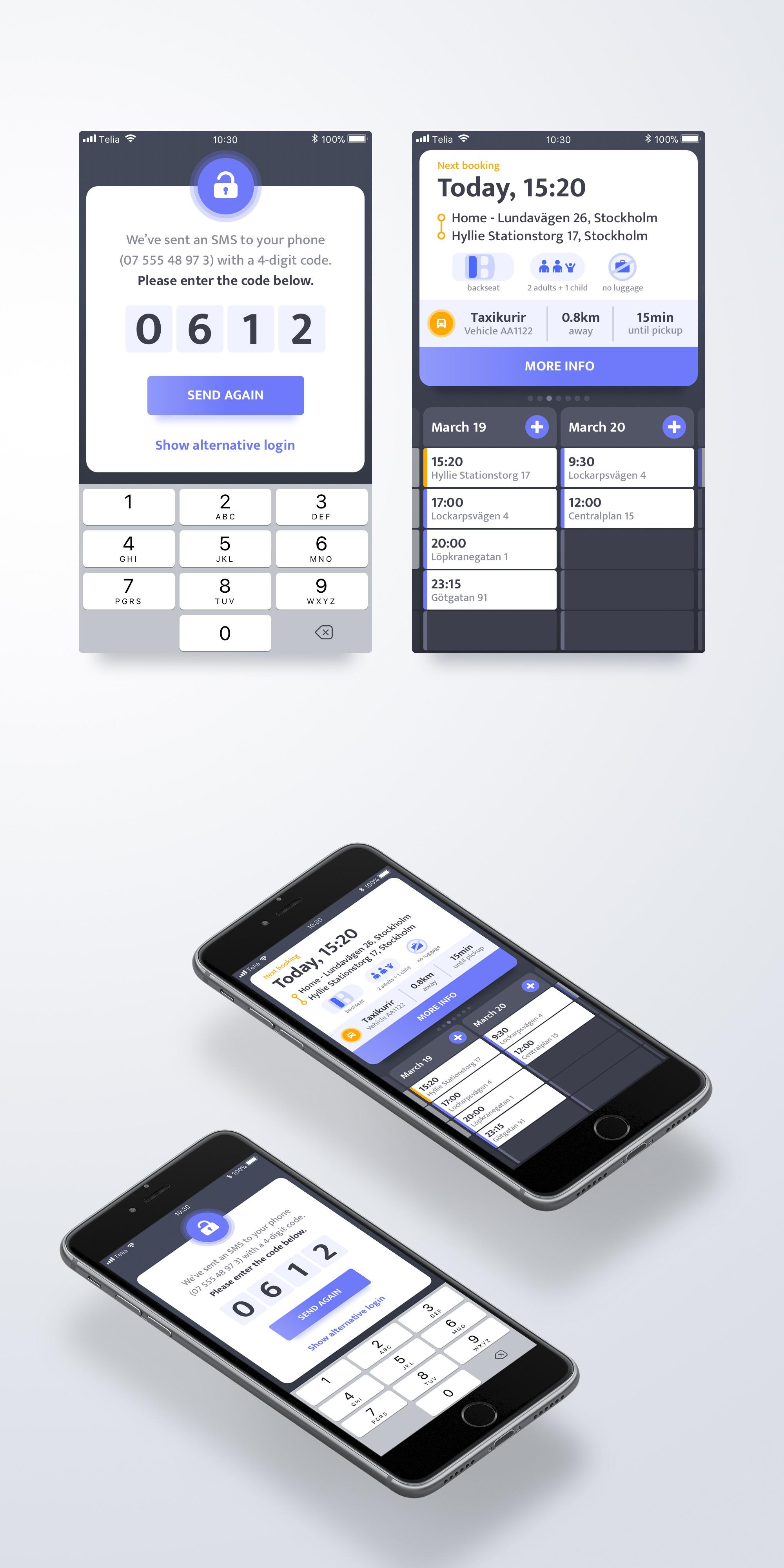 Go creative designing a taxi-app