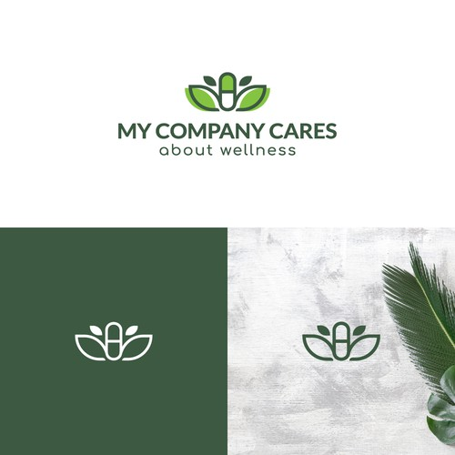 Organic logo for a company that sells vitamins, supplements and herbs.