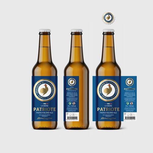 Beer Label Patriote