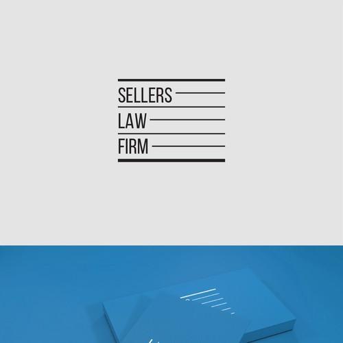 Logo concept for criminal lawyer.