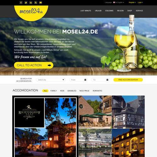 Amazing Webdesign contest - Mosel24