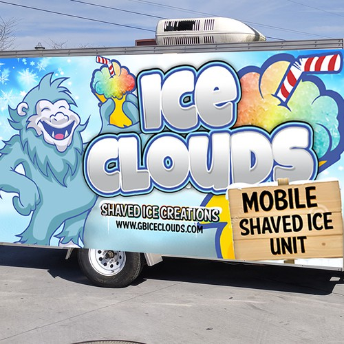Trailer Wrap for a mobile shaved ice vendor