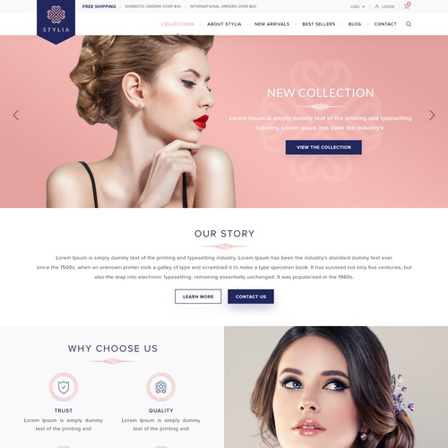 Stylia E-commerce Shopify Website Design & Development