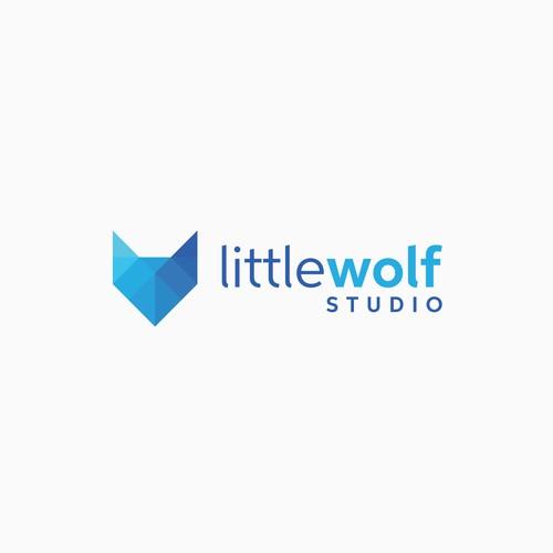 Little Wolf Studio logo concept
