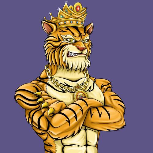 Tiger Themed Generative Art