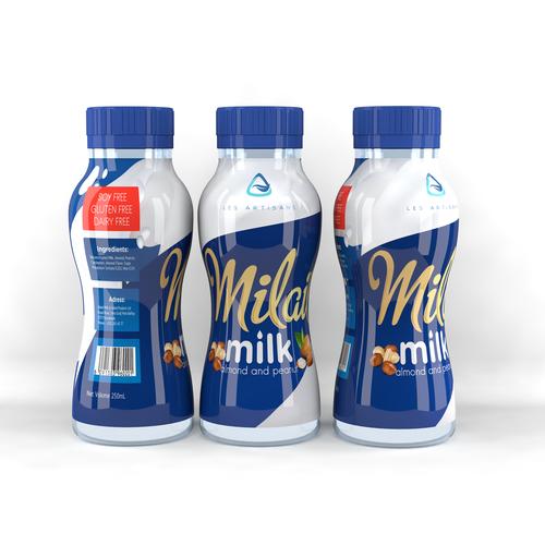 Milk sleeve label
