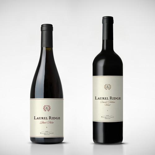 "Wine label for ""Laurel Ridge Winery"""