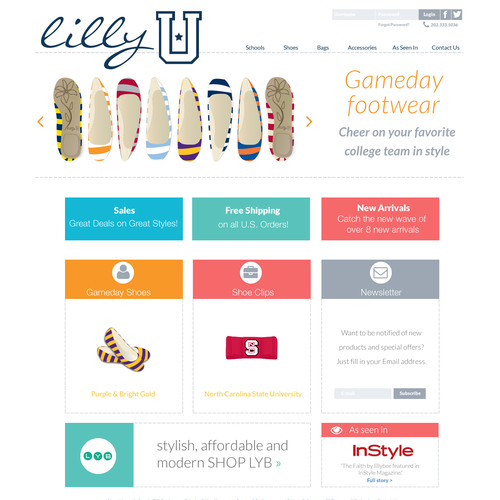 Web page design for lillyU