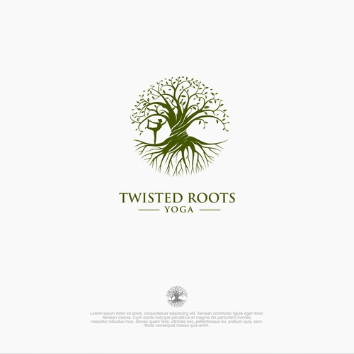 Earthy logo for Twisted Roots Yoga