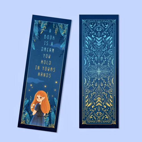 """Bookmark Design #1 ''a book is a dream you hold in your hands"""""""