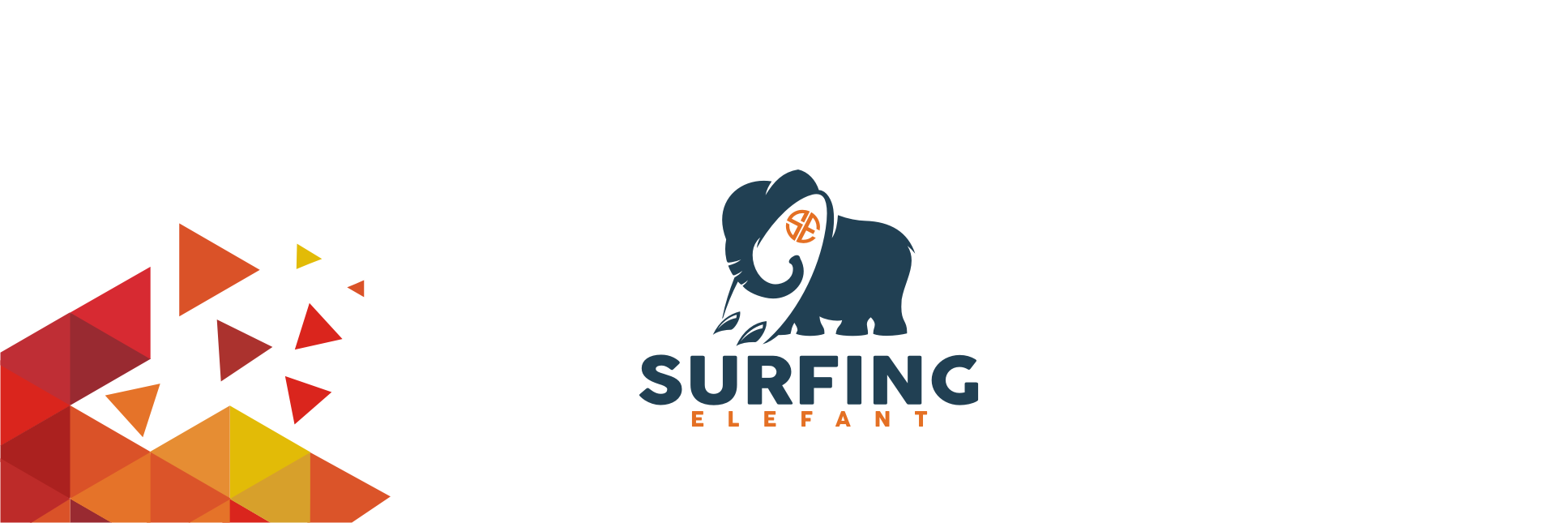 Create a fun / hip logo for new sport products brand: surfing elefant