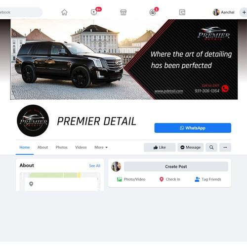 Facebook banner for car detailing service.