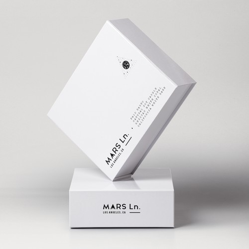 MARS Ln. brand identity - candle label & packaging design