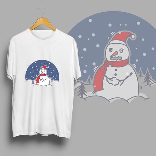 winter t shirt design