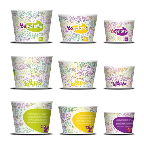 Cup & packaging design for YoGelato