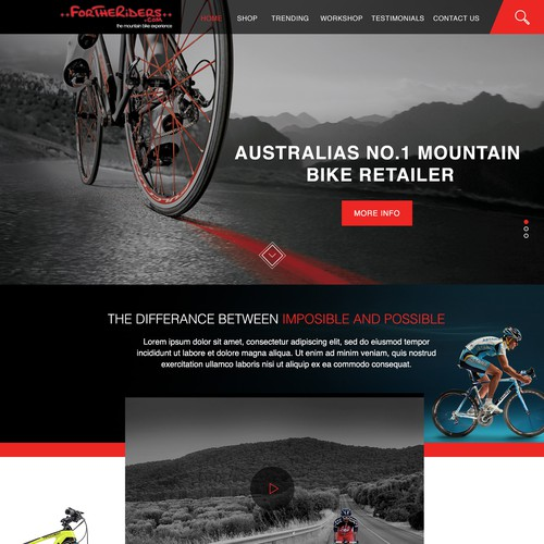 For The Riders Web Design