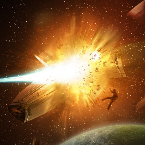 Book Cover space explosion