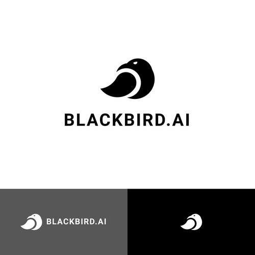 Black bird crow logo