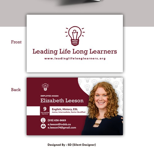 Elizabeth Leeson Business Card Design