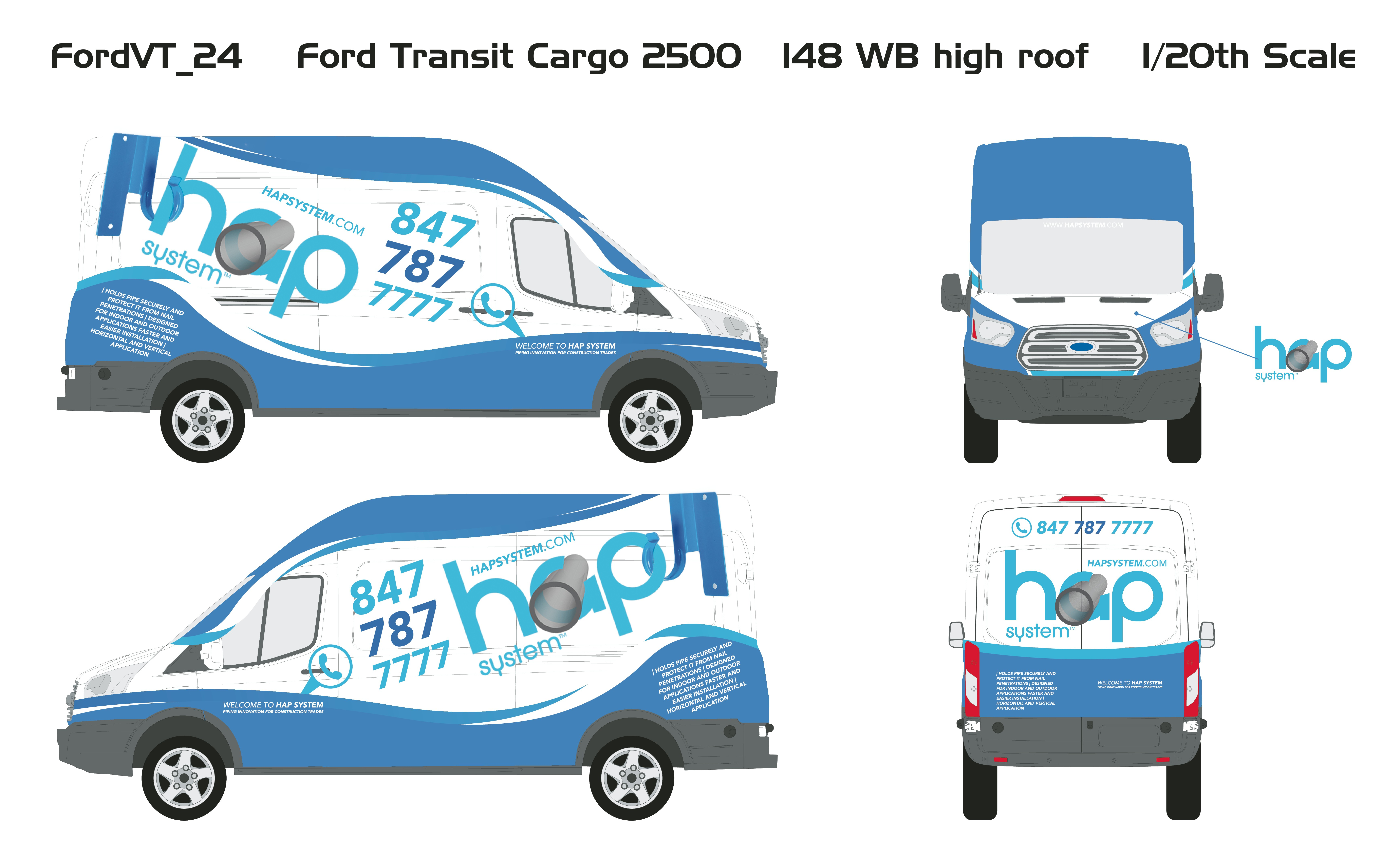 Design a Ford Transit 250 Car Wrap for HAP System