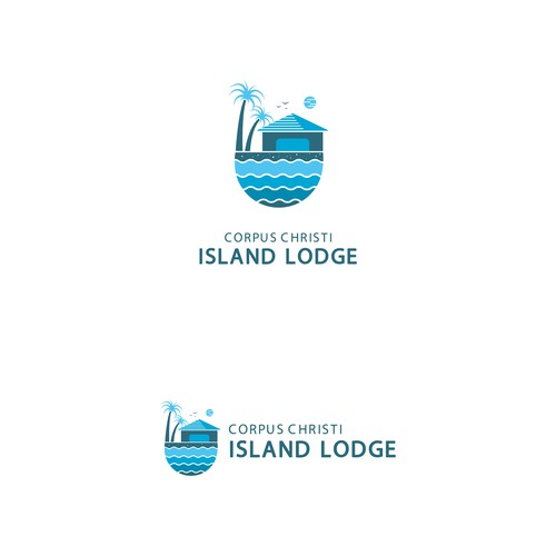 Fun logo design for Island Lodge