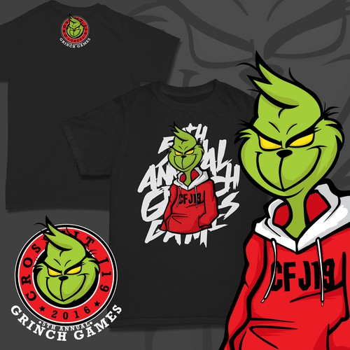 """Entry for """"the Grinch"""" Themed T-shirt"""