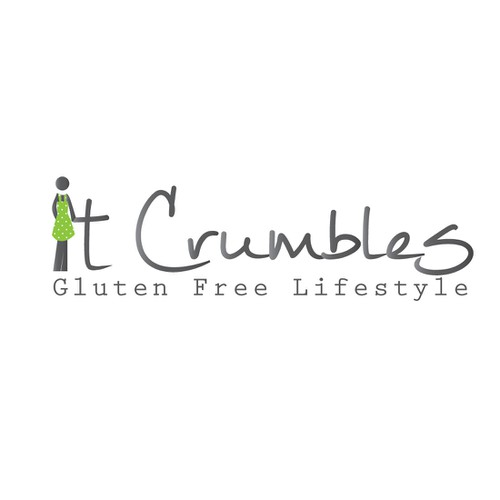"Logo for an ""up & coming"" gluten-free lifestyle blog"