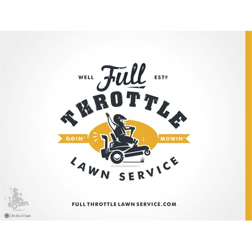 New logo wanted for Full Throttle Lawn Service