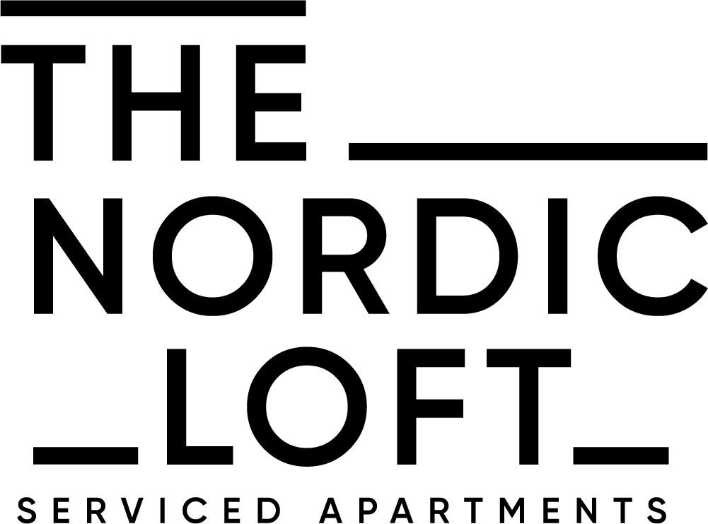Modern logo for Scandinavian-themed serviced apartments