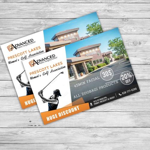 Advanced Prescott Lakes Women's Golf Association Postcard