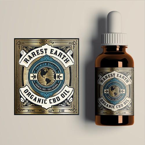 Vinate label for CBD oil