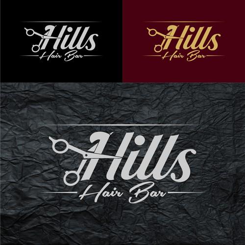 Hills Hair Bar Logo Concept