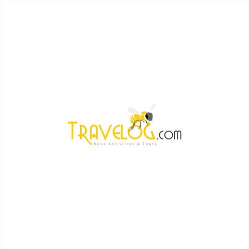 Travelog.com Logo Design.... With bee :D