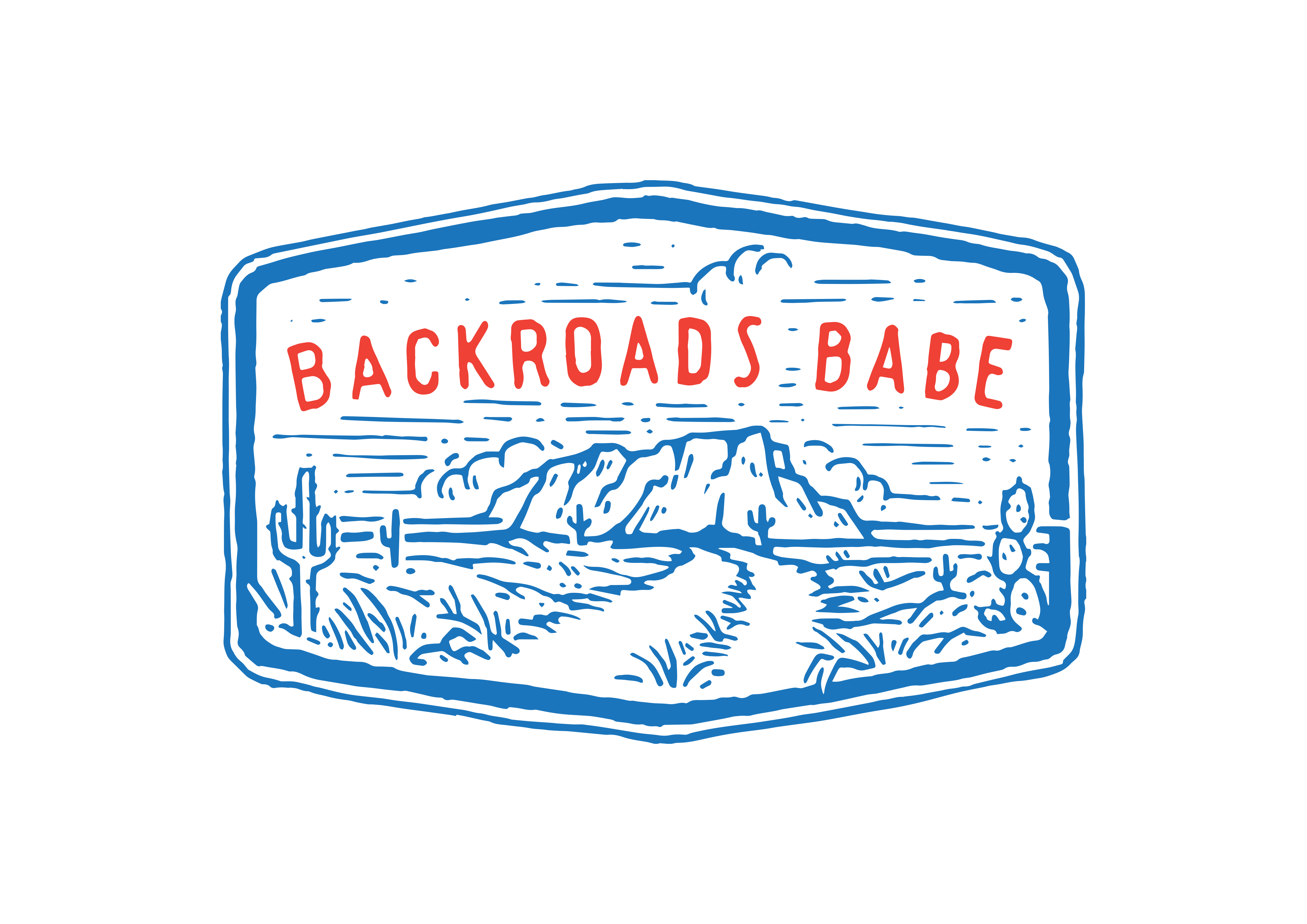 Simple T-Shirt Design - BACKROADS BABE (text) with Country Road