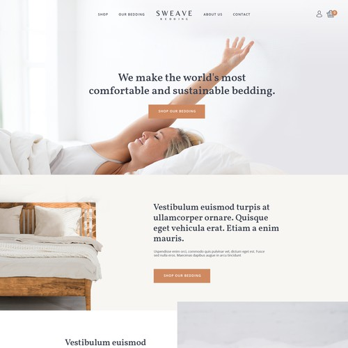 Bedding homepage
