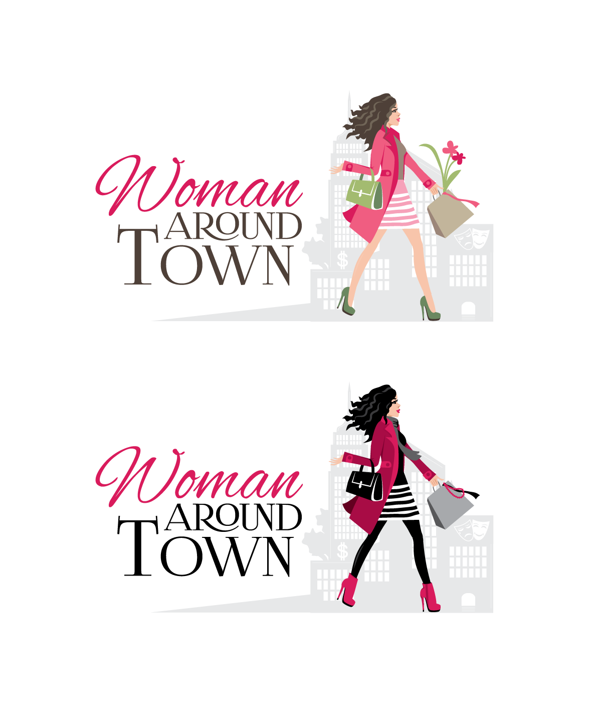 Design a logo for the award winning website Woman Around Town.