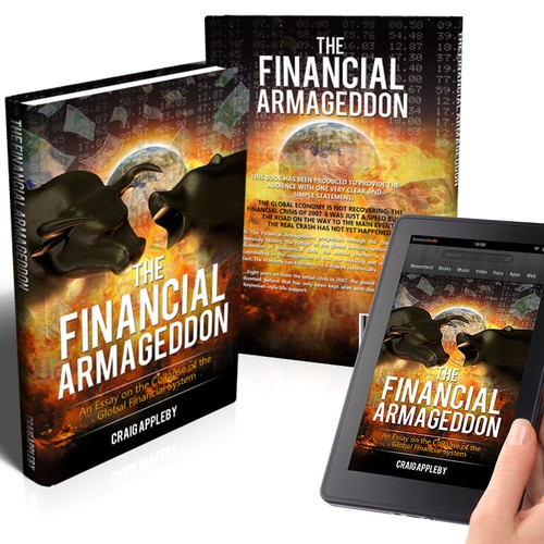 Create a vivid front cover for a book titles ' The Financial Armageddon'