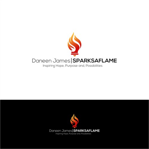 Inspirational Speaker Wants A Logo & Identity That Sparks A Flame
