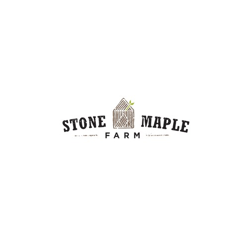 Organic Eco Friendly Logo For Stone Maple Farm