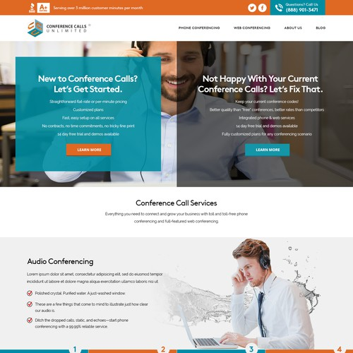 Website Concept for Conference Call Company