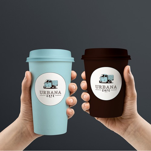 Custom paper cups and poster design