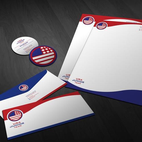 stationery for USA Junior National Golf Team