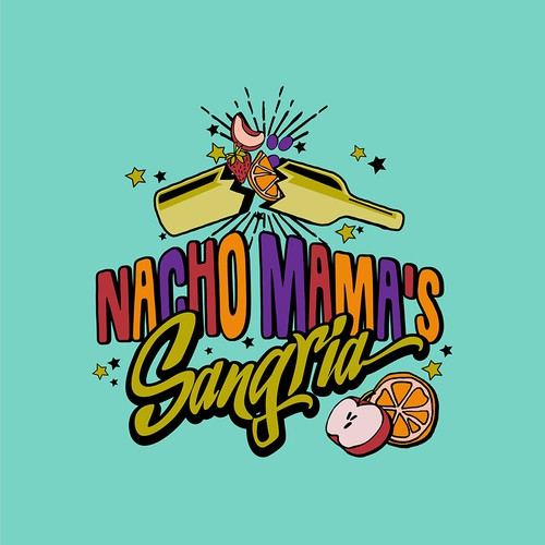 Fun Logo concept for sangria logo