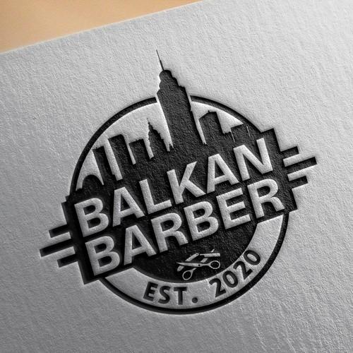 Logo for the barber