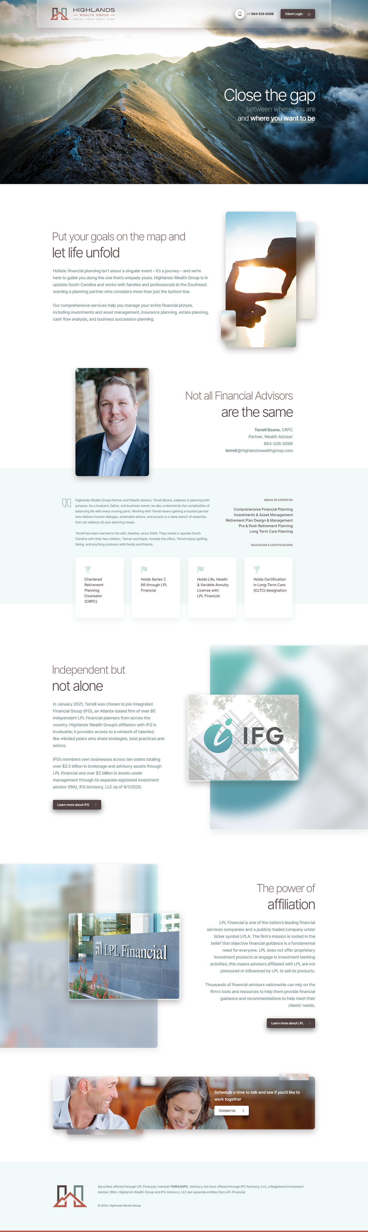 Highlands Wealth Group Brand Identity Package