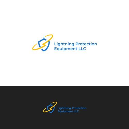 Minimal lightning protection logo.