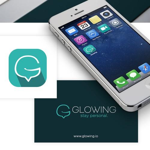 Glowing.io Logo & Identity Design